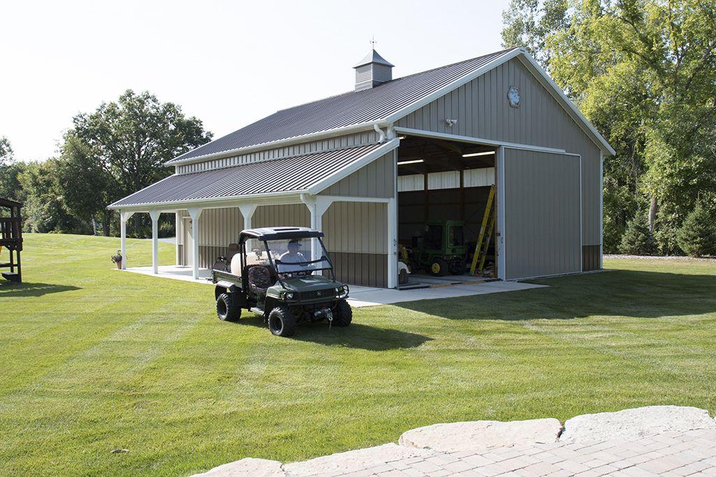 Morton buildings custom garage in attica michigan for Rv barns
