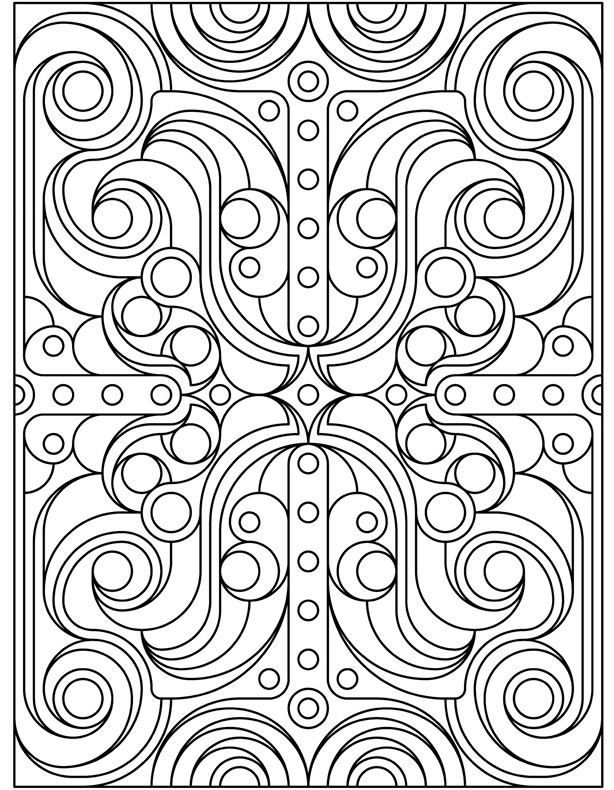 Welcome to Dover Publications | דגמי אלתר - Geometric Patterns Color ...
