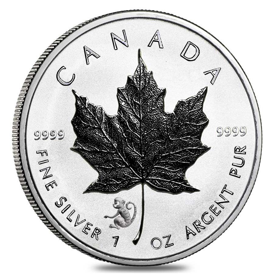 2016 1 Oz Silver Canadian Maple Leaf Lunar Monkey Privy 9999 Fine 5 Coin Canadian Maple Leaf Silver Maple Leaf Maple Leaf