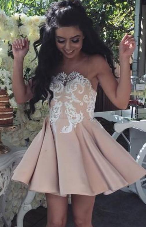 A Line Sweetheart Empire Waist Long Green Chiffon Beaded Prom Dress Corset Back