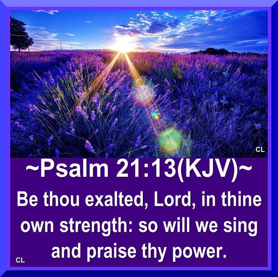 PRAYING THE PSALMS: Psalm 21:13