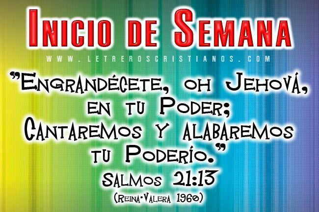 Inicio De Semana Salmos 2113 Letreros Cristianoscom