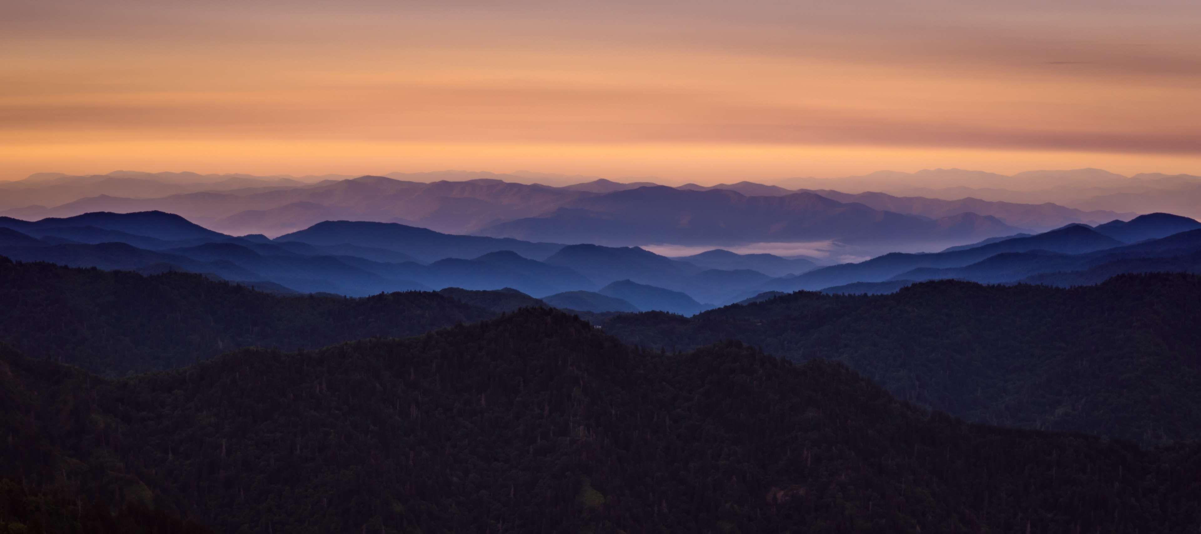Dawn Fog Landscape Mountain Range Mountains Nature Panoramic Scenic Sky Scenic Landscape Photography Tutorial Landscape Photography