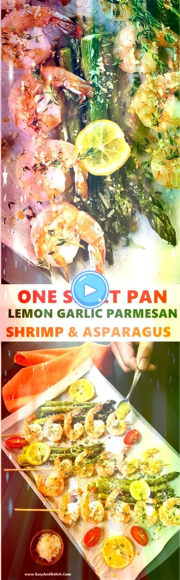 Blatt Pan Lemon Garlic Parmesan Shrimp und Spargel  Ein Blatt Pan Lemon Garlic Parmesan Shrimp und Spargel   Ein Blatt Pan Lemon Garlic Parmesan Shrimp und Spargel  Ein B...