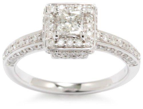 Kobelli 1 cttw Princess and Round Diamond 14k Gold Engagement Ring, http://www.amazon.com/dp/B0093UQX90/ref=cm_sw_r_pi_awdm_cLKrtb1K0FDXK