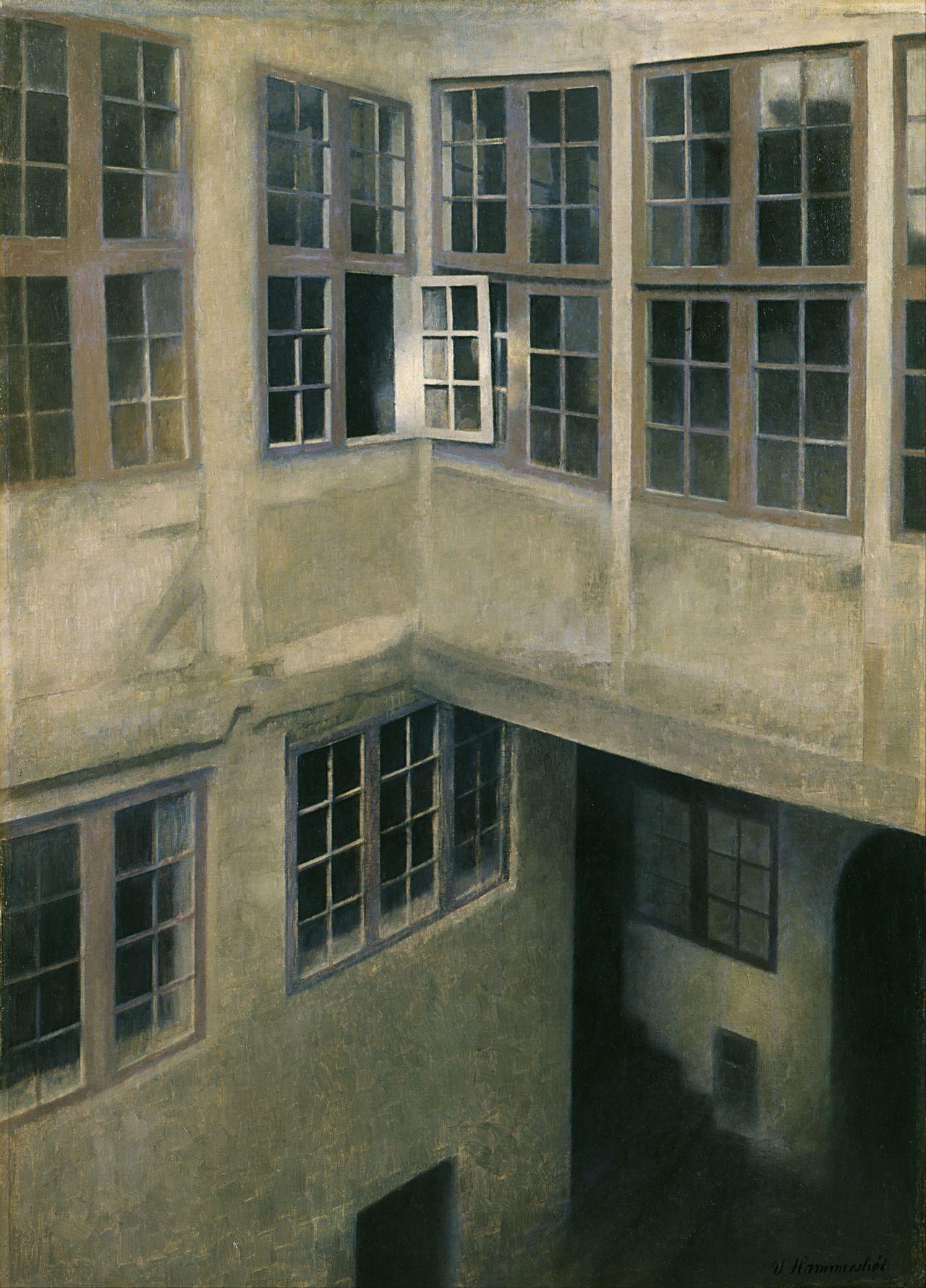 Interior of Courtyard, Vilhelm Hammershøi