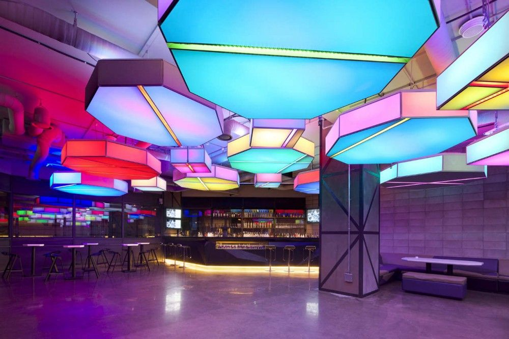 4D Media Lighting Lounge at Club Octagon designed by Urbantainer in Seoul   Korea Club Octagon   Urbantainer   Architecture  Basements and Interiors. Lounge Lighting. Home Design Ideas