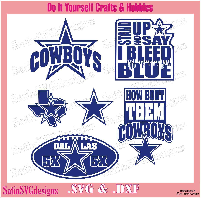 Dallas Cowboys 5X Blue Designs SVG Files 02d69798a