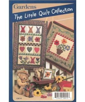 #GardenQuiltPattern Gardens Little Quilt Collection Sewing Craft Patterns and Instructions - Flowers Bunny Hearts LQC15