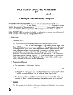10 Simple Techniques For Single Member Llc Operating Agreement