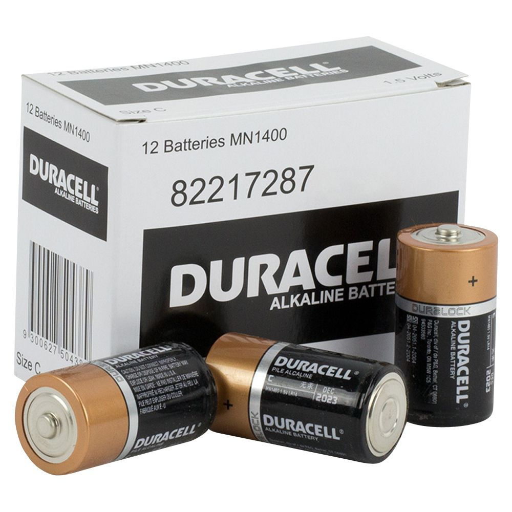 Duracell Coppertop C Size Battery Box Of 12 Duracell Duracell Batteries C Batteries
