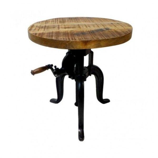 Table Basse Industrielle  31 Idées Pour Votre Salon ! - Hauteur Table Salle A Manger