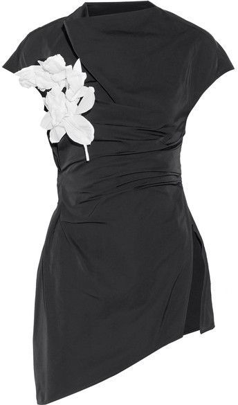 Asymmetric draped-front taffeta top Rosie Assoulin Authentic Buy Browse For Sale 2fCilUcHnQ