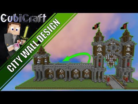 1538) How To Build Medieval Rustic City Wall Minecraft Tutorial