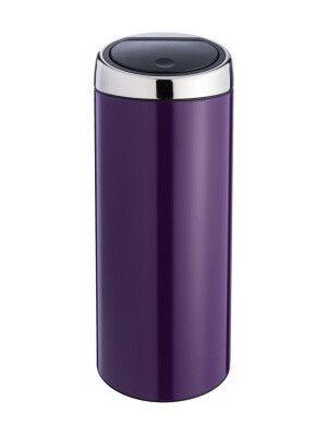 Poubelle Touch Bin 30l Violet O 29 4 Cm H 72 Cm Branding