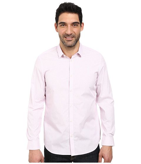 CALVIN KLEIN Cool Tech Ticking Stripe Woven Shirt. #calvinklein #cloth #shirts & tops