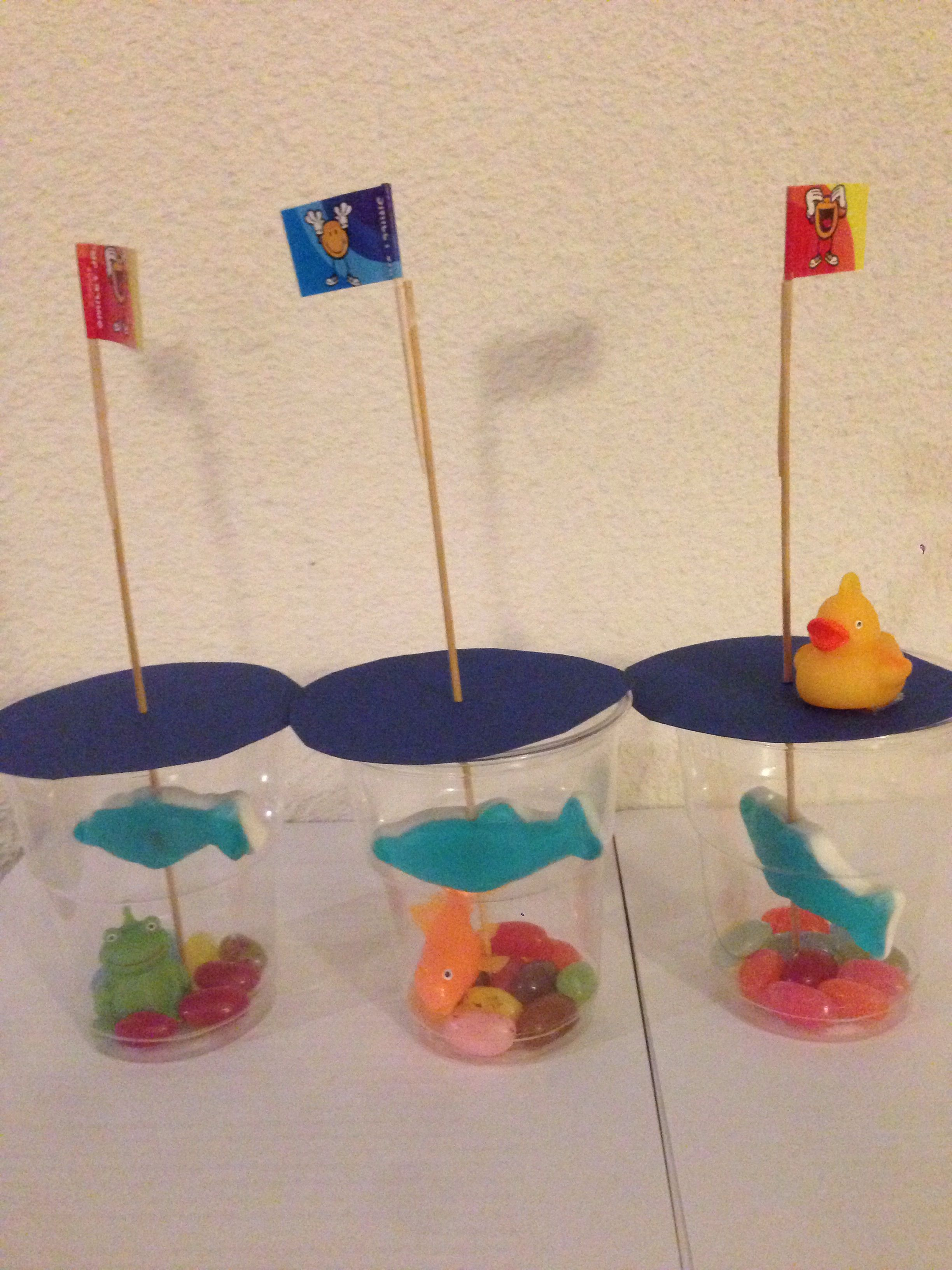 Aquarium Traktatie Jellybeans In Bekertje Met Snoepvis