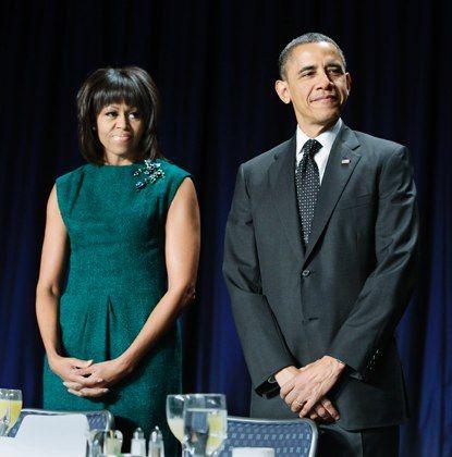 michelle obama in green