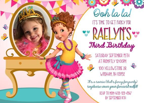 7d8a8c1f1aff Fancy Nancy Birthday Invitation with photo-Ooh la la! 5x7