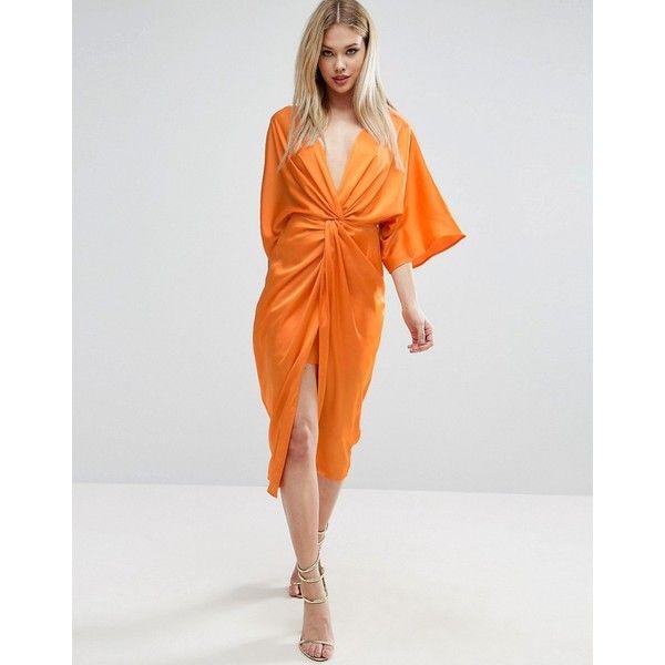 49++ Asos design twist midi dress with kimono sleeve trends