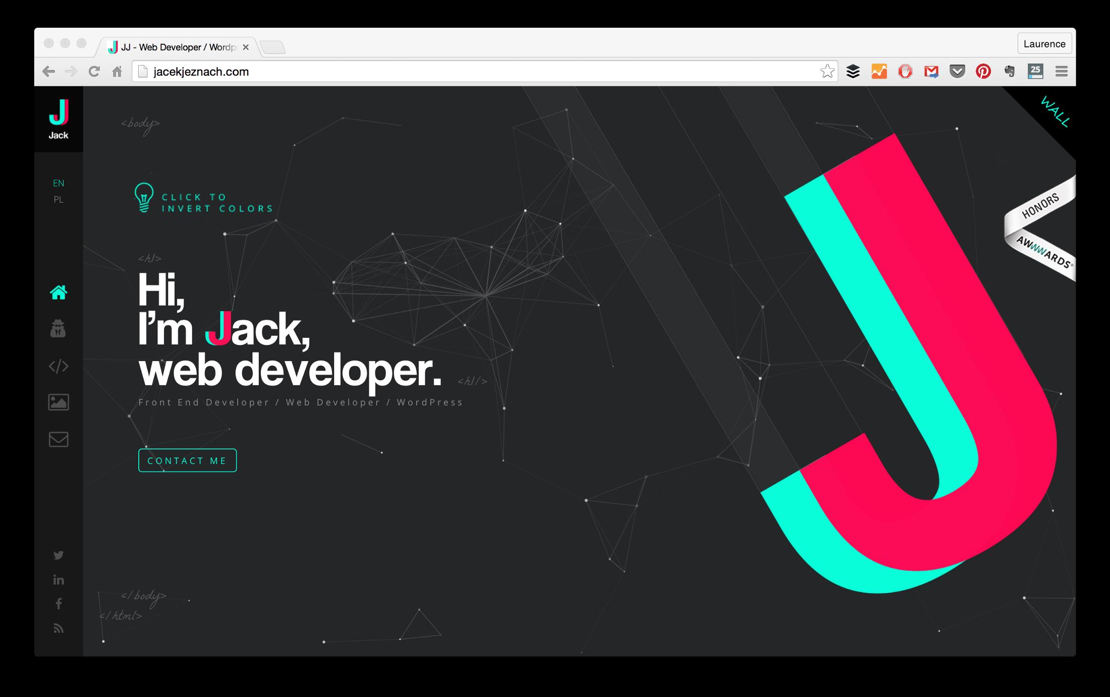 Web Developer Portfolios To Inspire You Freecodecamp Org Web Developer Portfolio Portfolio Website Design Portfolio Web Design