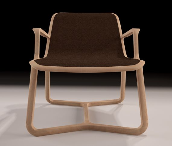 Riza by Thelos Design Team Contemporary lounge chair with organic