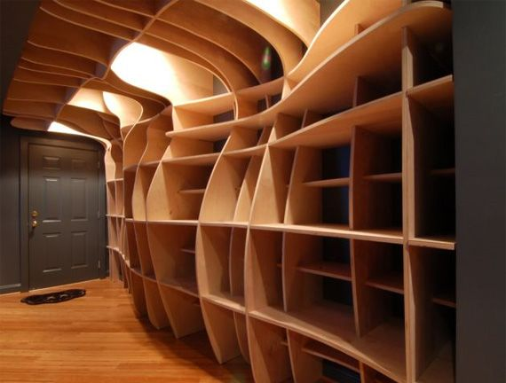 digitally fabricated shelving. way way cool.