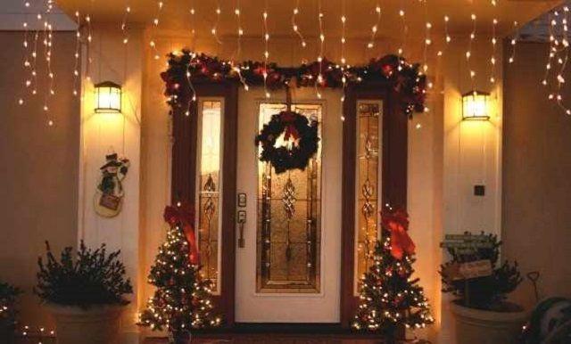 Decoración navideña para puertas Ideas para Decoracion navidad