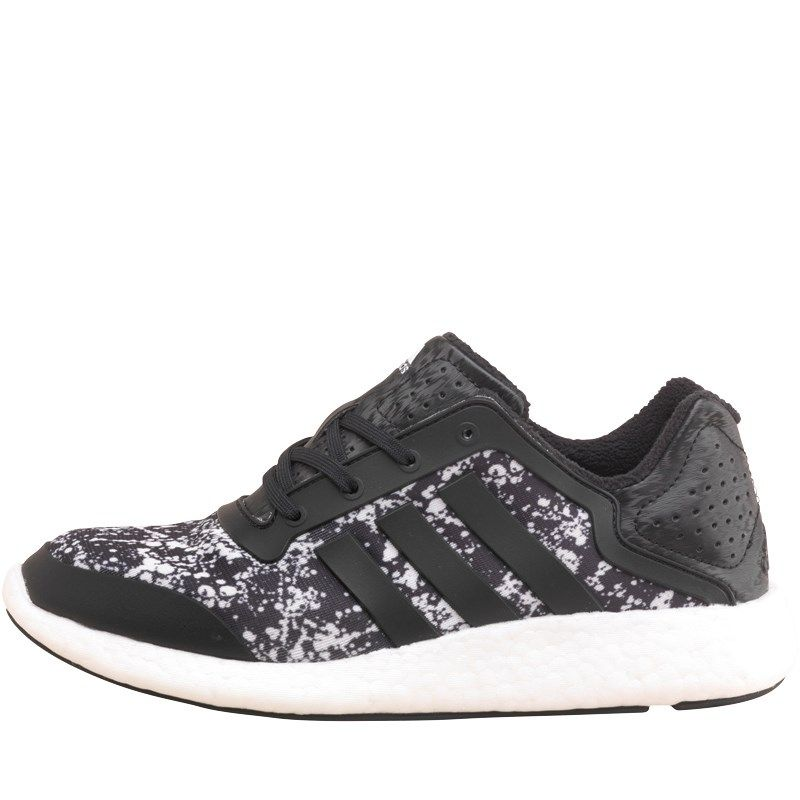adidas Pure Boost - Women's - Running - Shoes - Black/Black/White