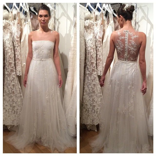 How pretty is this illusion back? Gown by Francesca Miranda