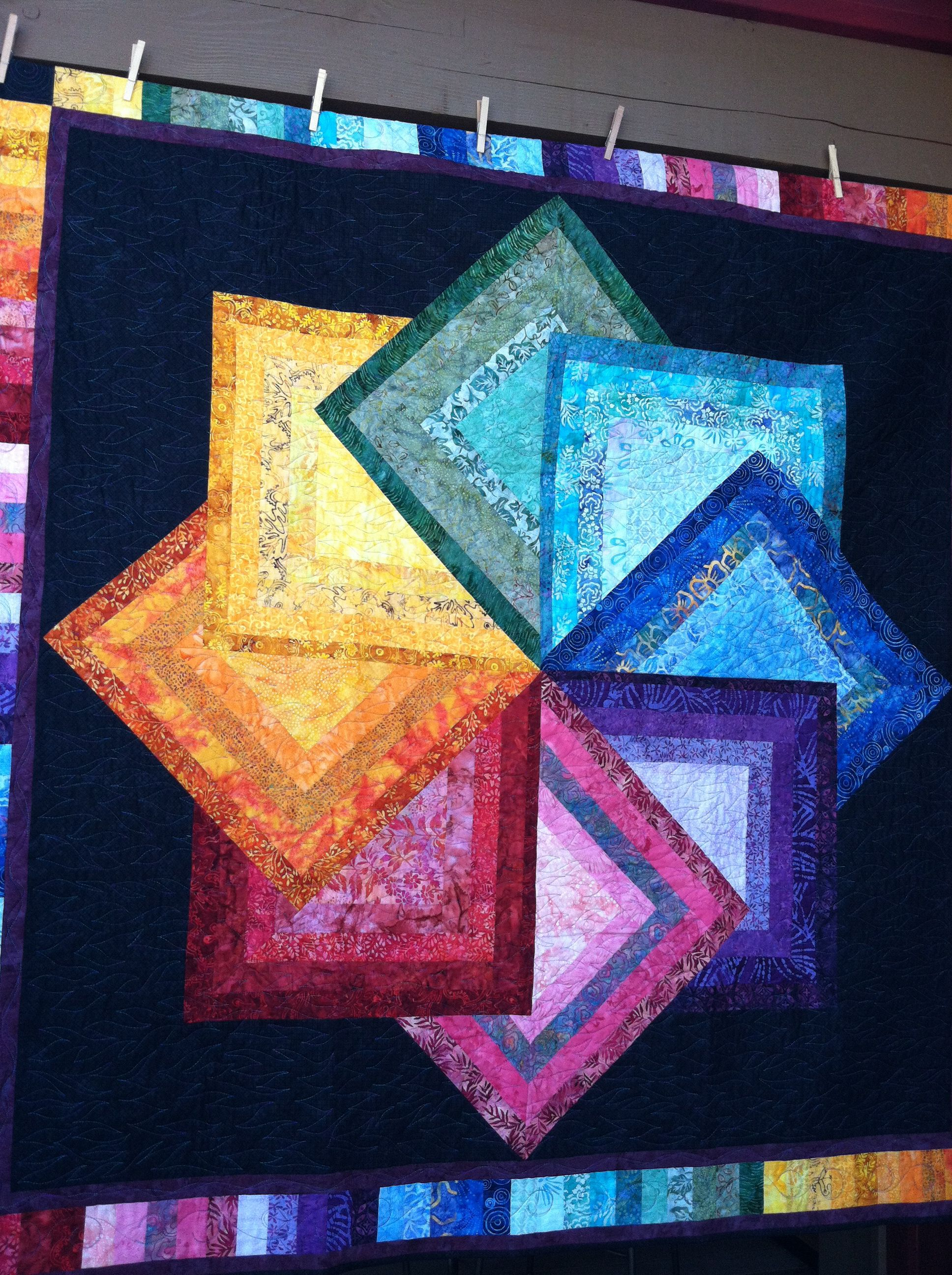 Sister S Quilt Show Oregon Awesome Rainbow Quilt