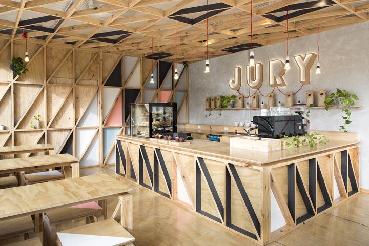jury cafe by biasol design studio melbourne cafe pinterest