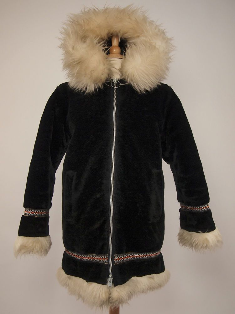 aa286ab884b 1970s STEARNS Vintage Eskimo ANORAK Insulated Winter Faux-fur Parka Women's  S #Stearns #Parka