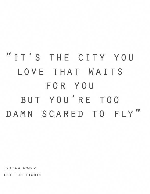 Hit The Lights Inspires Me To Travel And Quit Being Scared