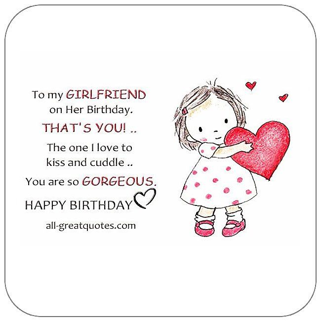 Free Birthday Cards For Girlfriend Happy Card