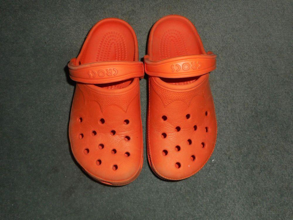 decc57f21a434 Women s Orange CROCS Slip On Clogs Comfort Shoes