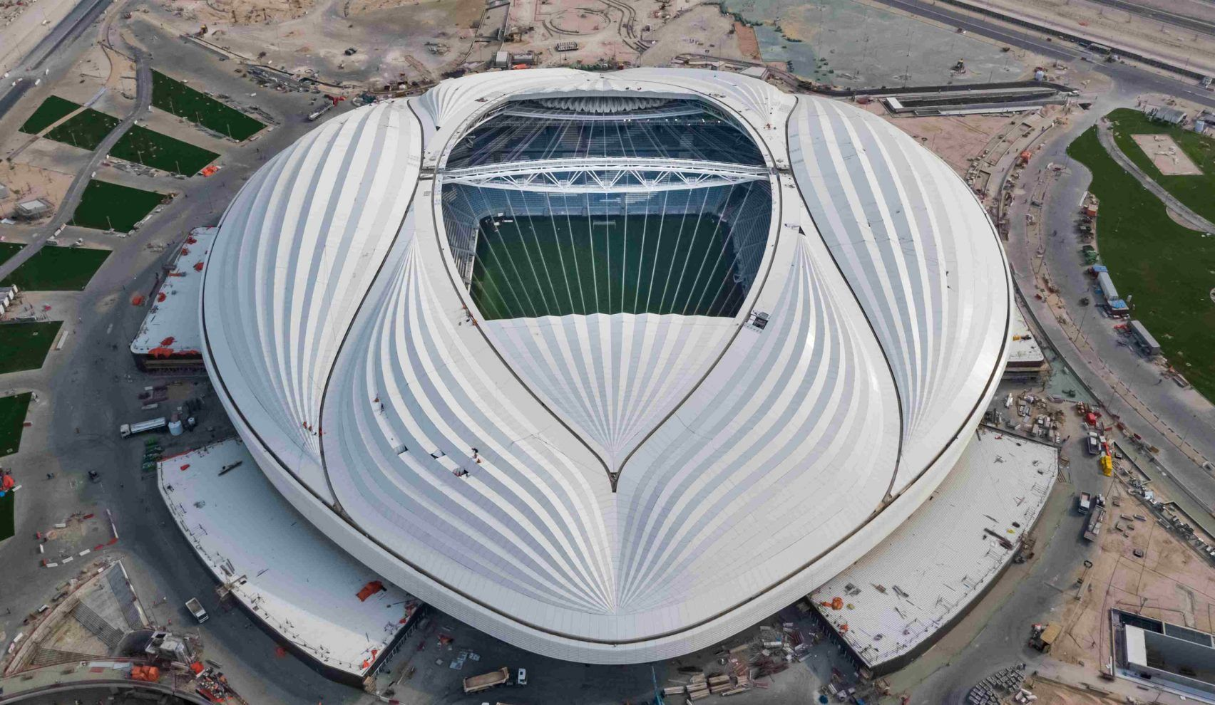 Al Wakrah Stadium Built By Zaha Hadid Architects For World Cup In Qatar Zaha Hadid Design Zaha Hadid Zaha Hadid Architects