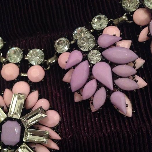 A very ontrend colour combo is pink and lilac, so you cant go far wrong with this new Statement Necklace from Be-Jewelled via www.accessorisemyoutfit.co.uk
