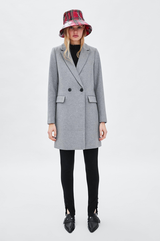 ABRIGO EFECTO ANTE | Suede coat, Coat, Zara man