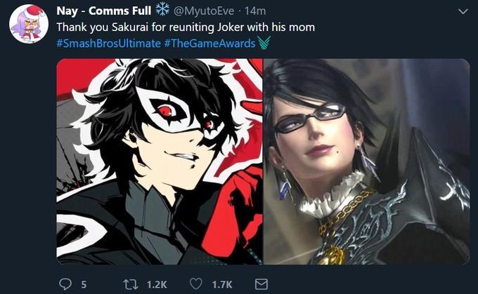 Truly A Family Reunion Bayonetta As Joker S Mom Super Smash Bros Memes Joker Super Smash Bros Game