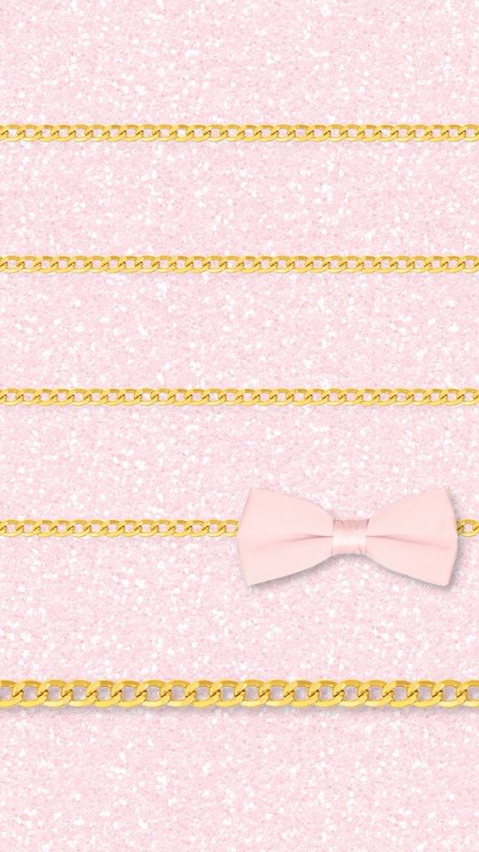 Pink Glitter Bow Chain Shelves Background To Iphone5 Iphone
