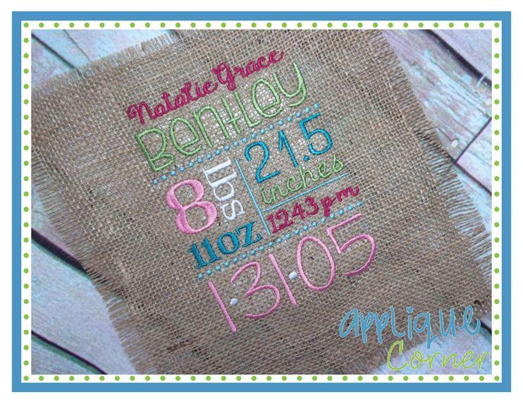 Applique corner subway art template embroidery design