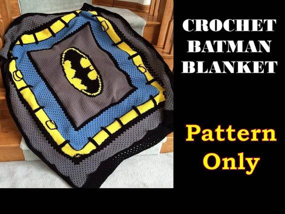 Crochet Batman Blanket Pattern ONLY
