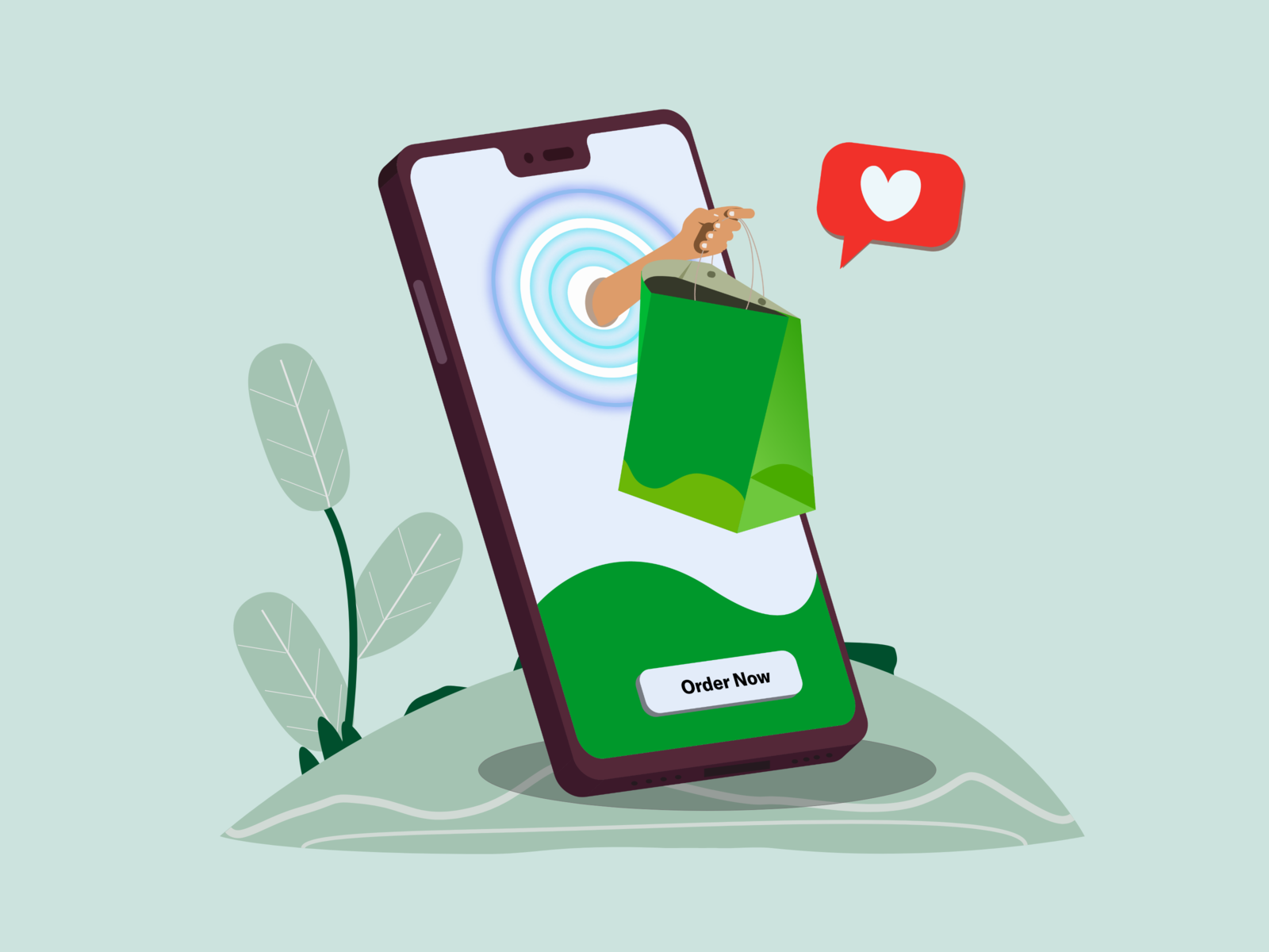 Order Your Food Through Mobile Shopping Online Logo Online Posters Mobile Shop Design