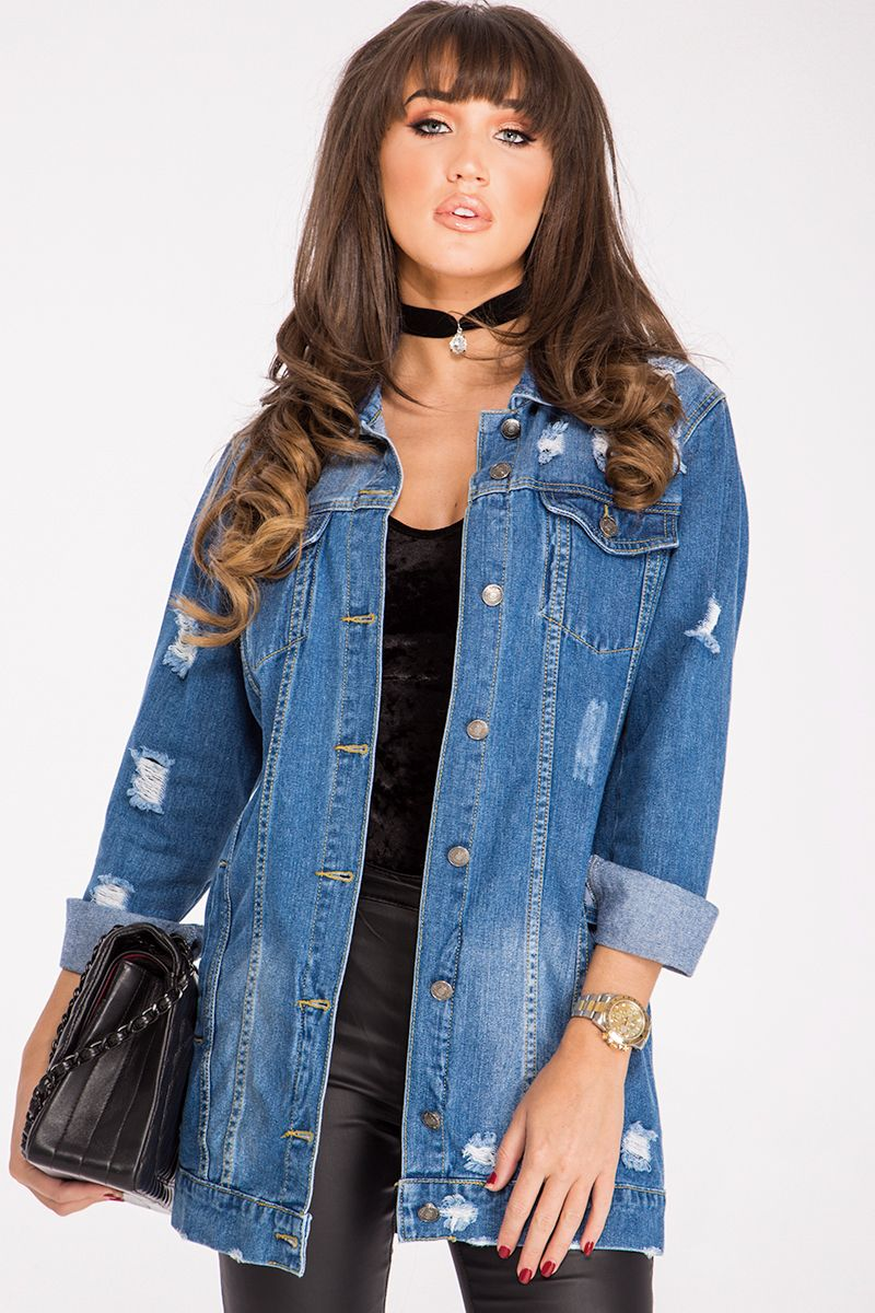 ef8d6d968e Megan Distressed Denim Jacket in 2019