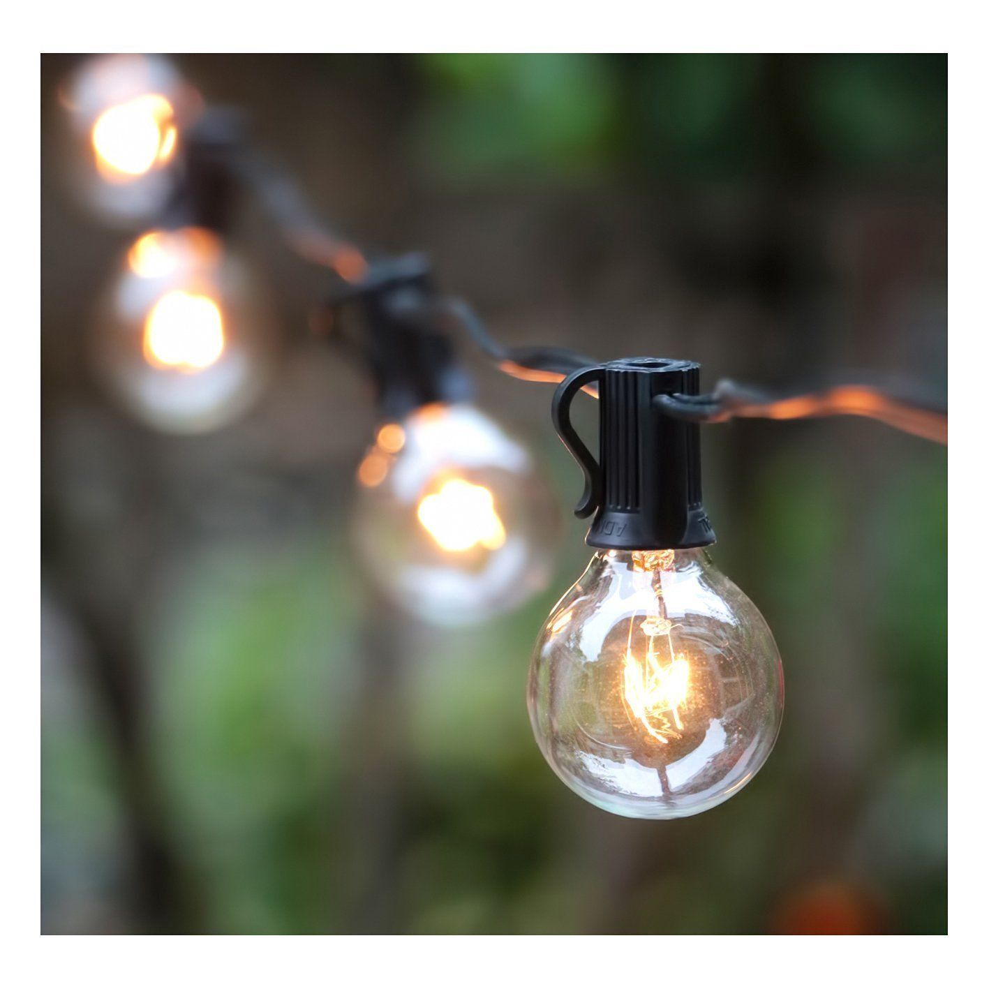 Blacklight String Lights 50Ft G40 Outdoor Globe String Light Setul Listed Edison Pendant