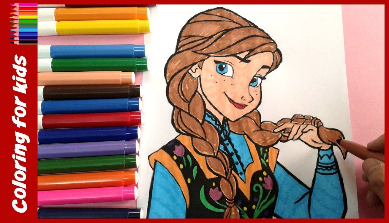 coloring pages for girls : How to color princess anna , frozen ...
