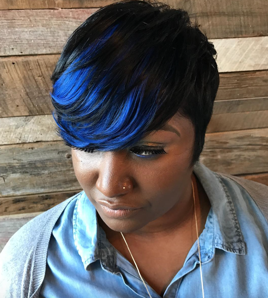 Beautiful blue via ttechniques blackhairinformation