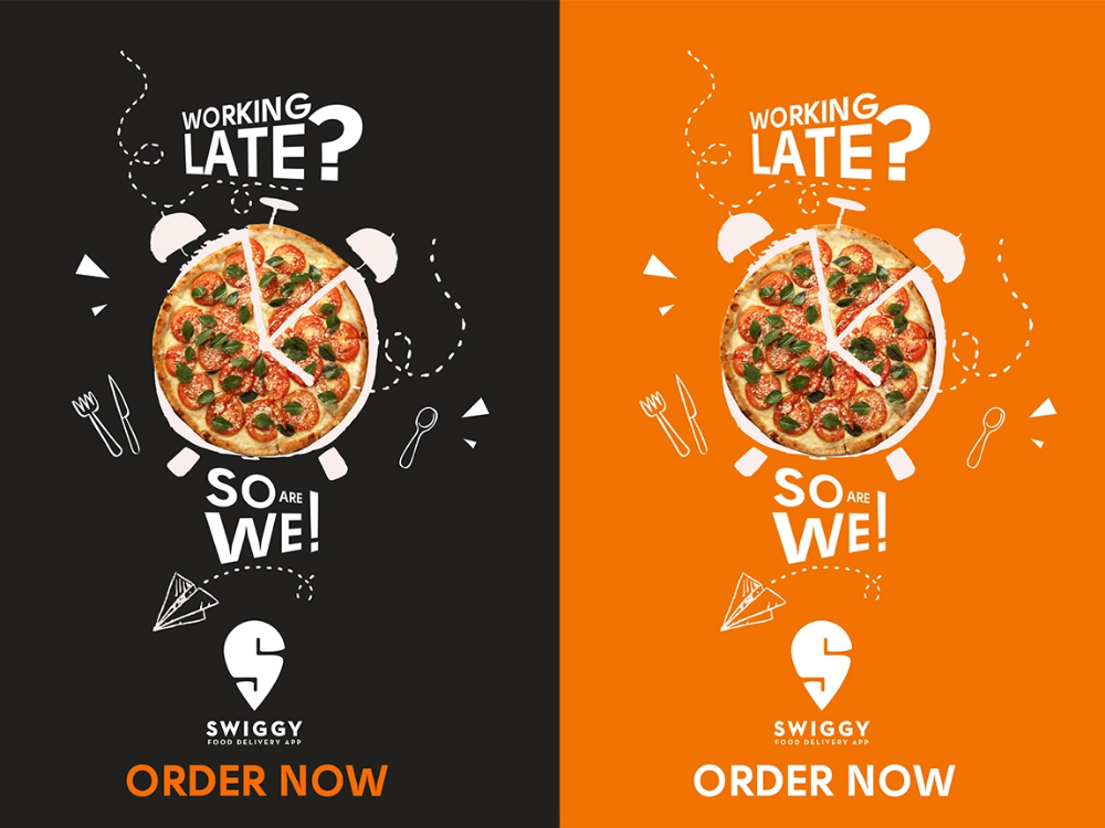 Late Night Food Delivery App Advertisement Night Food Delivery Food Graphic Design Food Poster Design