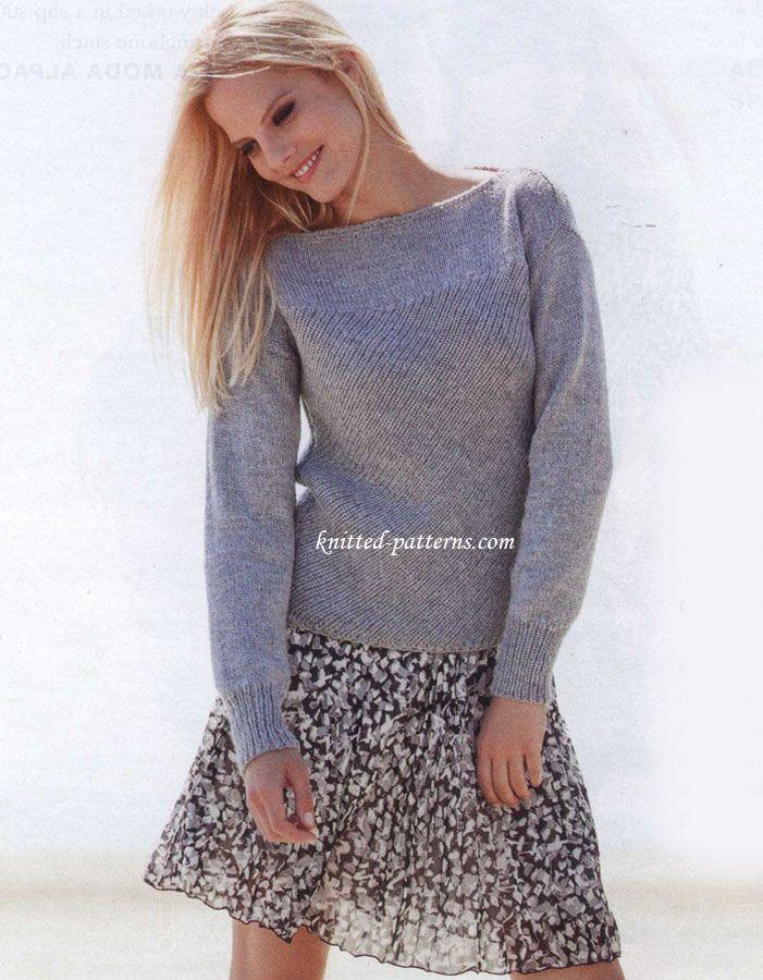 Pull diagonales | Tricot, vêtements et accessoires | Pinterest ...